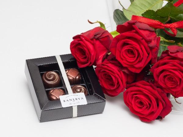 Ruusuja ja suklaata